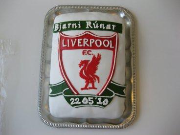 Liverpool útskriftarkaka
