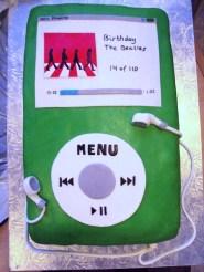 Græn iPod afmæliskaka