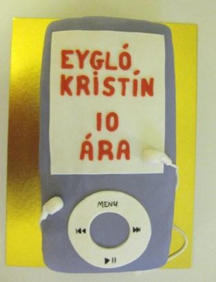 Fjólublá iPod afmæliskaka