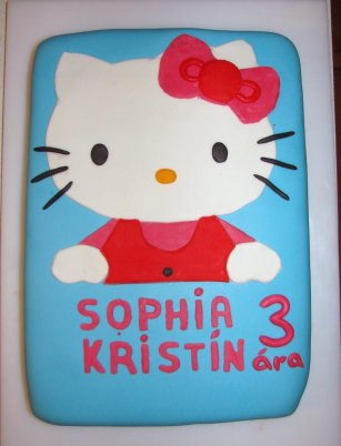 Hello Kitty afmæliskaka
