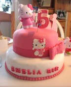 Hello Kitty afmæliskaka 4