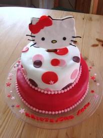 Hello Kitty afmæliskaka 5